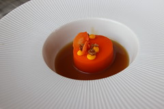 Chef's Tasting Menu @ Sixteen in Chicago (Symbiosis) Tags: chef'stastingmenusixteen chicago sixteen trumptower chicagoil restaurant carrotcake miso butterscotch dessert