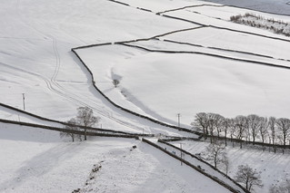 Walking in the Snow, Peak District National Park, Derbyshire, England.