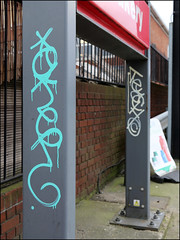 Oker / Teach (Alex Ellison) Tags: oker gsd teach dds northwestlondon urban graffiti graff boobs