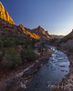 A February Sunset Over The Watchman (rebeccalatsonphotography) Tags: sunset evening np nationalpark zion zionnationalpark watchman virginriver river february winter utah ut rebeccalatsonphotography iconic canon 5ds 1635mm