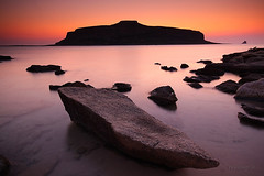 Gramvousa at dusk (Piotr_ewaipiotr_pl) Tags: ifttt 500px sunset beach coastline seascape long exposure idyllic tranquility horizon over water coastal feature crete balos