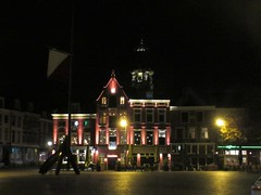 Neude square at night, view to Domtoren, Utrecht, Netherlands (Paul McClure DC) Tags: utrecht netherlands nederland thenetherlands nov2017 historic architecture cathedral