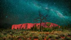 Milky Way over Uluru / Ayers Rock (Young Ko) Tags: northernterritory milkyway uluru australia ayersrock nature harmony nikon amazing atmosphere sky longexposure rock rocks nightsky stars galaxy astrophotography milkywayphotography outback