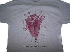 A teacher with a Heart t-shirt (craftyscientists51) Tags: geekshirt science weird women screenprint geek teacher biology heart men handmade