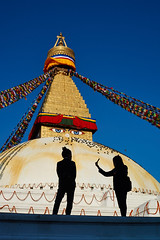 Nepali schoolgirl making selfies in front of the Buddhist stupa of Boudhanath, Kathmandu, Nepal (Alex_Saurel) Tags: portrait girls portraiture smartphone portray asie culture 35mmprint écolière schoolgirls nepaligirls scans shadows makingselfy asian silhouette pattern motif stupa bouddhisme cielbeu buddhism people eyesofboudhanath khāsacaitya schoolgirl boudhanath mandala asia prayerflags khāsti architecture travel sanctuairebouddhiste lifescene बौद्धनाथ buddhiststupa imagetype buddhistsanctuary photospecs photoreport jarungkhashor yeux drapeauàprière photoreportage kathmandu reportage thegreatstupa bouddhanath eyes bodnath byarungkhashor photojournalism stûpa religion stockcategories day traditional time tibetanflags katmandou tradition bluesky nepal scènedevie lifestyles sony50mmf14sal50f14