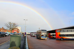 GOLD At the end of the Rainbow, Exeter Bus Station 20.1.18 (DSH Trains) Tags: gold at the end of rainbow stagecoach south west exeter bus station enviro 400