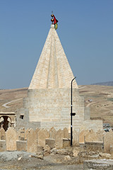 Yezidi Village near Dohuk  (2) .JPG (tobeytravels) Tags: kurdistan iraq yazidi temple shrine conical shekhanvalley mesopotamia sumerian ezidkhan ezidi