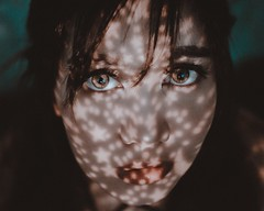 4/52 - Your Universe (kiml_photos) Tags: emotive conceptual 35mm fujifilm stars lantern tone mood color shadow light girl woman portrait