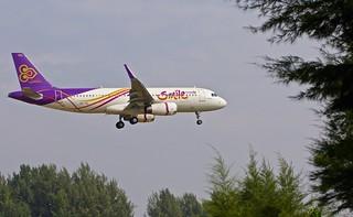 HKT/VTSP: ThaiSmile Airbus A320-200 HS-TXL