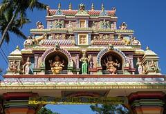 Kerala - Paravur Hindu Temple Gate (zorro1945) Tags: kerala india asia asie paravur paravurhindutemple figures hindutemple hinduism temple paintedfigures gate entrance colours southindia kollam