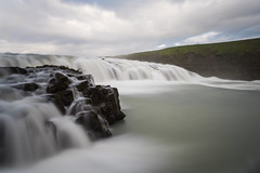 Gullfoss - Iceland (virtualwayfarer) Tags: gullfoss foss waterfall water flow longexposure nature landscape landscapephotography viisticeland icelandic naturalbeauty dramatic incrediblenature wild wildnature natural sony sonyalpha a7rii travel goldencircle goldentriangle naturephotography naturephotographer whattosee whattodo cloudy clouds alexberger southernregion virtualwayfarer travelblog roadtrip roadtripiceland