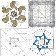 collage2017bb (regolo54) Tags: geometry symmetry handmade mathart regolo54 fractal fibonacci goldenratio circle disk ink square