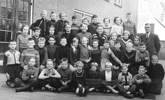 Class photo (theirhistory) Tags: school class form group photo boys girls children kids teacher jacket jumper trousers shoes wellies boots