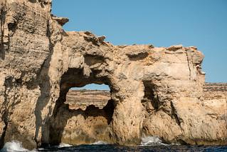 The coast of Comino.