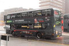 NXWM 6747 @ Moor Street Queensway, Birmingham (ianjpoole) Tags: national express west midlands alexander dennis enviro 400mmc sn15ljk 6747 working platinum route 935 walsall st pauls bus station lower bull street birmingham