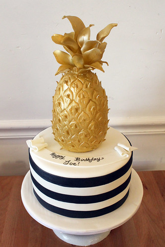 Pineapple Stripes Cake
