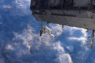 Shuttle Discovery Crew's First Spacewalk of STS-116 Mission