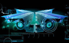Security camera (1stChoiceFlik) Tags: 3d colour effects abstract background threedimensional computer technology digital graphics security camera surveillance safety control protection area building copy electronics government lens video wall watching illustration india