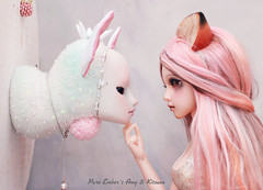 The fox and the fawn (Shirrstone Shelter dolls) Tags:
