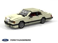 Ford Thunderbird 1983 V8 Coupe (lego911) Tags: ford motor company thunderbird 1983 aero aerodynamic v8 coupe 1980s usa america auto car moc model miniland lego lego911 ldd render cad povray foitsop