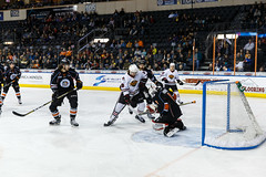 "Kansas City Mavericks vs. Indy Fuel, February 16, 2018, Silverstein Eye Centers Arena, Independence, Missouri.  Photo: © John Howe / Howe Creative Photography, all rights reserved 2018. • <a style=""font-size:0.8em;"" href=""http://www.flickr.com/photos/134016632@N02/40342364442/"" target=""_blank"">View on Flickr</a>"
