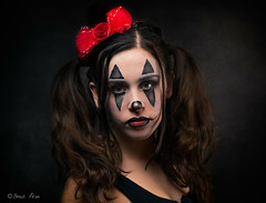 The serious  clown (shaulfiron) Tags: photoshoot portrait פורים purim flash