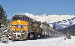 We're not in Omaha (Justin Franz) Tags: unionpacific uprr trains mountain mountains canadianrockies kootenayrockies canadianpacific canon canon80d potash