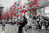 Red Lanterns (Tony Shertila) Tags: europe britain england merseyside liverpool chinatown chinesenewyear festival parade people dragon lion oriental chinese outdoor unitedkingdom gbr