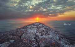 "Colors of Sunrise""Souq Waqif Wakra"" (Nabeel Iqbal) Tags: colors sunrise souq waqif al wakra wakrah qatar doha beach ocean sea seascape watar motion clouds sun rainy day beautiful camera canon 6d 1740mm photography rocks"