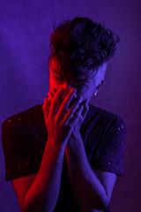 Portrait (Glennskitchen) Tags: portrait nikon d750 home studio cameron sanderson musician moody edgy dramatic dark