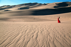 home (OneLifeOnEarth) Tags: onelifeonearth colorado great sand dunes national park girl red blue sky selfportrait light shadow