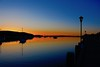 Spring painting of the harbor! (ineedathis, Everyday I get up, it's a great day!) Tags: harbor pier gazebo sea bluesky colors boats masts lampposts calm nature spring peaceful serene horizon sunset reflections heavenlylight northport huntington longisland newyork silhouettes