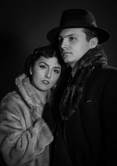 'An Evening with' ~ Chloe & Aaron (ToriAndrewsPhotography) Tags: chloe aaron forties 40s style portrait hotlights photography nadrews tori models male female