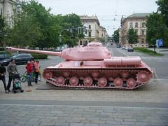 A pink tank! (johnzebedee) Tags: tank czechrepublic armytank brno johnzebedee