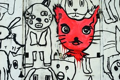 Happy Birthday 7DWF!!! (勇 YoungAdventure) Tags: thailand 泰國 タイ 태국 เชียงใหม่ bangkok 曼谷 バンコク 방콕 กรุงเทพมหานคร nikkor50mmf2 nikkorhauto50mmf2 7dwf crazytuesdaytheme happybirthday graffiti streetart cats