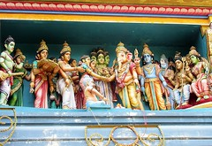 Puducherry, Tamil Nadu - Sri Manakula Vinayagar Hindu Temple (zorro1945) Tags: srimanakulavinayagartemple puducherry ponicherry tamilnadu india asia asie hindutemple hinduism hindugods statues sculptures frieze ganesh lordganesha