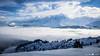 Panorama sur le Mont Blanc au petit matin (La Pom ) Tags: hiver froid neige savoir haute alpes combloux panorama mont blanc nuages vallée sallanches