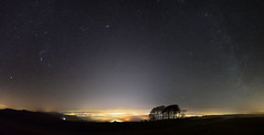 Cheltenham under the fog & Winter Milky Way [Explored 14/01/2018] (Gwenael B) Tags: fog mist cheltenham milkyway stars nightscape night nightphotography cotswolds uk panorama stitch astro astroscape trees wideangle