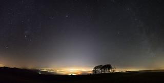 Cheltenham under the fog & Winter Milky Way [Explored 14/01/2018]