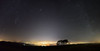 Cheltenham under the fog & Winter Milky Way [Explored 14/01/2018] (Gwenael B) Tags: fog mist cheltenham milkyway stars nightscape night nightphotography cotswolds uk panorama stitch astro astroscape trees wideangle
