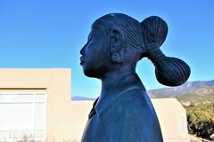 (thomasgorman1) Tags: art sculpture closeup woman bronze native american southwest museum nm nikon