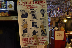 Hackberry General Store (Shot Yield Photography) Tags: usa unitedstates arizona route66 route66arizona historic hackberry hackberrygeneralstore poster concert show rocknroll 1957 chuckberry fatsdomino jerryleelewis billhaley eddiecochran everlybrothers hilton hotel los angeles