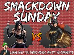Smackdown Sunday- X-23 VS Batgirl (Luigi Fan) Tags: x23 vs batgirl marvel dc comics