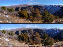 Tomichi Point Panorama (Chuckcars) Tags: xpro2 fujifilm rokinon roki montrose colorado usa black canyon gunnison national park panorama winter tomichi viewpoint sky clouds