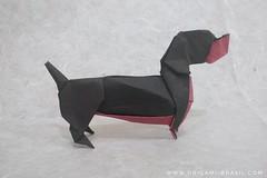 34/365 Dachshund by 212moving (origami_artist_diego) Tags: origami origamichallenge 365days 365origamichallenge dog dachshund chinesenewyear