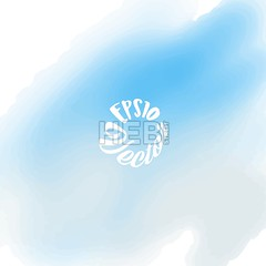 Hand painted vector Watercolor Background (Hebstreits) Tags: abstract art backdrop background banner blue bright brush color colorful design element graphic hand illustration ink light paint paper sea sky splash stain texture vector wallpaper wash water watercolor watercolour wet white