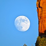 Moon with Castle Rock   (from the archives) thumbnail