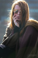 Amber (austinspace) Tags: woman portrait spokane washington model downtown kendallyards winter summery sunshine sunny river redhead
