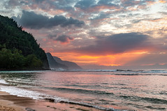 20140201-_DSC5435 (bfluegie) Tags: hawaii kauai keebeach beach ocean sunset water d90 nikond90