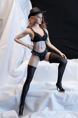 Leave Your Hat On, Part One (edwicks_toybox) Tags: 16scale hotplus tbleague bra femaleactionfigure hat highheels kimitoys magiccube panty phicen redhead thong